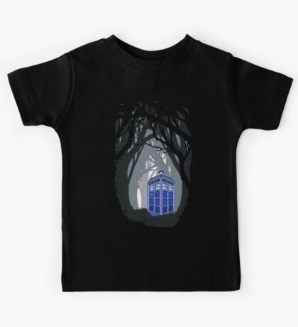 Space And Time traveller Box lost in the woods Kids Tee