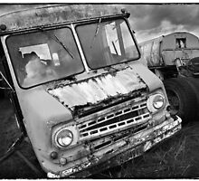 """ Old Delivery Van "" ... Salvage Yard  by Malcolm Heberle"