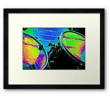 Rainbow Drums Framed Print