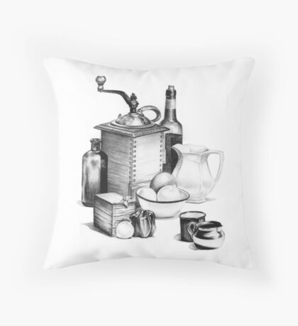 Still Life by Margaret Harris Throw Pillow