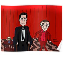 Dale Cooper in the Red Room with the Dancing Little Man Poster