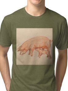 Piggie love by Liz H Lovell  Tri-blend T-Shirt