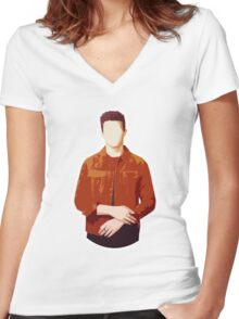 Shawn New August #1 Women's Fitted V-Neck T-Shirt