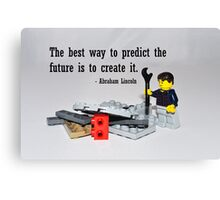 """""""The best way to predict the future is to create it"""" Canvas Print"""