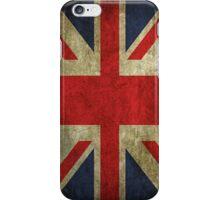 Antique Faded Union Jack UK British Flag iPhone Case/Skin