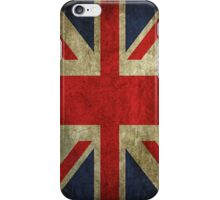 Antique Faded Union Jack UK British Flag iPhone Case/Skin