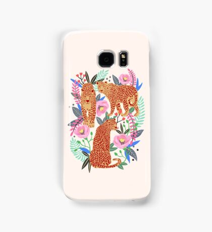 Leopard Idea, leopard print, animal print, flower print Samsung Galaxy Case/Skin