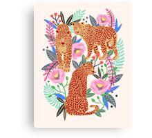 Leopard Idea, leopard print, animal print, flower print Canvas Print