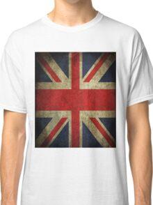 Antique Faded Union Jack UK British Flag Classic T-Shirt