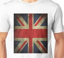 Antique Faded Union Jack UK British Flag Unisex T-Shirt