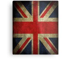 Antique Faded Union Jack UK British Flag Metal Print