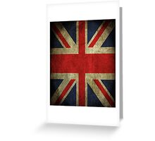 Antique Faded Union Jack UK British Flag Greeting Card