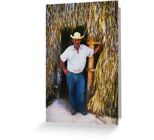 Cuban tabacco worker Greeting Card