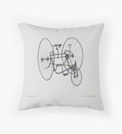 A Fancy Ride in Grey Throw Pillow