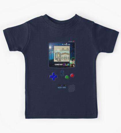 Space And Time traveller Gameboy special edition Kids Tee