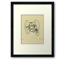 A Fancy Ride in Beige Framed Print