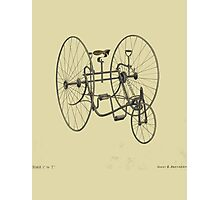 A Fancy Ride in Beige Photographic Print