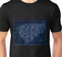 0154 Railroad Maps Map of North and South Carolina exhibiting the post offices post roads canals rail roads c By David H Burr Late topographer to the Post Office Geographer Inverted Unisex T-Shirt