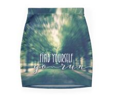 Find Yourself Go Run Runners Quote Fontainebleau 2 Mini Skirt