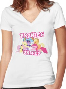 BRONIES UNITED - LIMITED EDITION Women's Fitted V-Neck T-Shirt