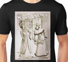 Performing Arts Posters The big scenic production Mans enemy or The downward path now in its 4th year in England 1307 Unisex T-Shirt