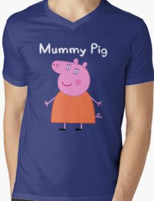 Mummy Pig Mens V-Neck T-Shirt