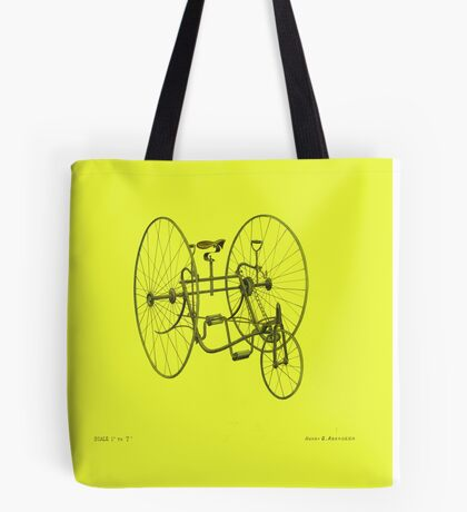 A Fancy Ride in Yellow Tote Bag
