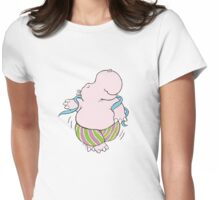 Hippo in the groove Womens Fitted T-Shirt