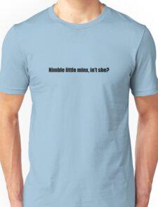 Ghostbusters - Nimble Little Minx - Black Font Unisex T-Shirt