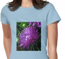 Starlight Blue Aster Womens Fitted T-Shirt