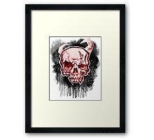 Red Demon Skull Framed Print