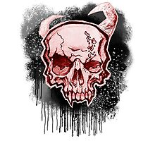 Red Demon Skull Photographic Print