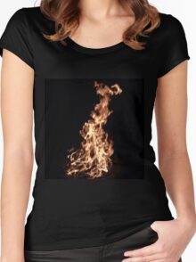 Burn Baby by Liz H Lovell Women's Fitted Scoop T-Shirt