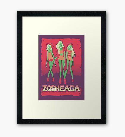 Music festivals zombies Framed Print