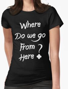 ALESSO QUOTE : I WANNA KNOW Womens Fitted T-Shirt