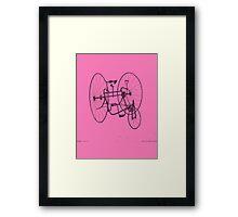 A Fancy Ride in Pink Framed Print