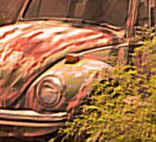 VW rusty-dusty-hot and waiting... 4 U ! Sticker