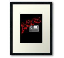 Lose Ctrl  (red) Framed Print