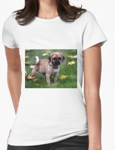 Puggle Puppy Dog Portrait Womens Fitted T-Shirt