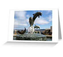 Dolphins Fountain Greeting Card