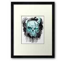 Blue Demon Skull Framed Print