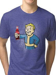 Vault boy-Nuka cola Tri-blend T-Shirt