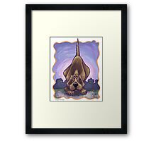 Animal Parade Hound Dog Framed Print