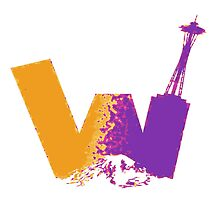 UW logo + Space Needle and Mt. Rainier P&G by kltj11