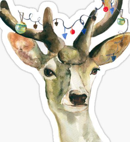 Deer  new-yea Sticker
