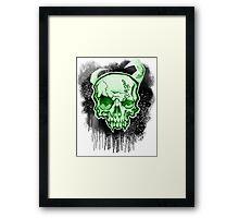 Green Demon Skull Framed Print