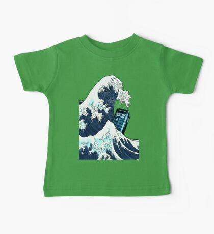 Space And Time traveller Box Vs The great wave Baby Tee