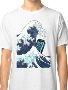 Space And Time traveller Box Vs The great wave Classic T-Shirt