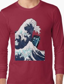 Space And Time traveller Box Vs The great wave Long Sleeve T-Shirt