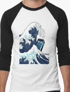 Space And Time traveller Box Vs The great wave Men's Baseball ¾ T-Shirt
